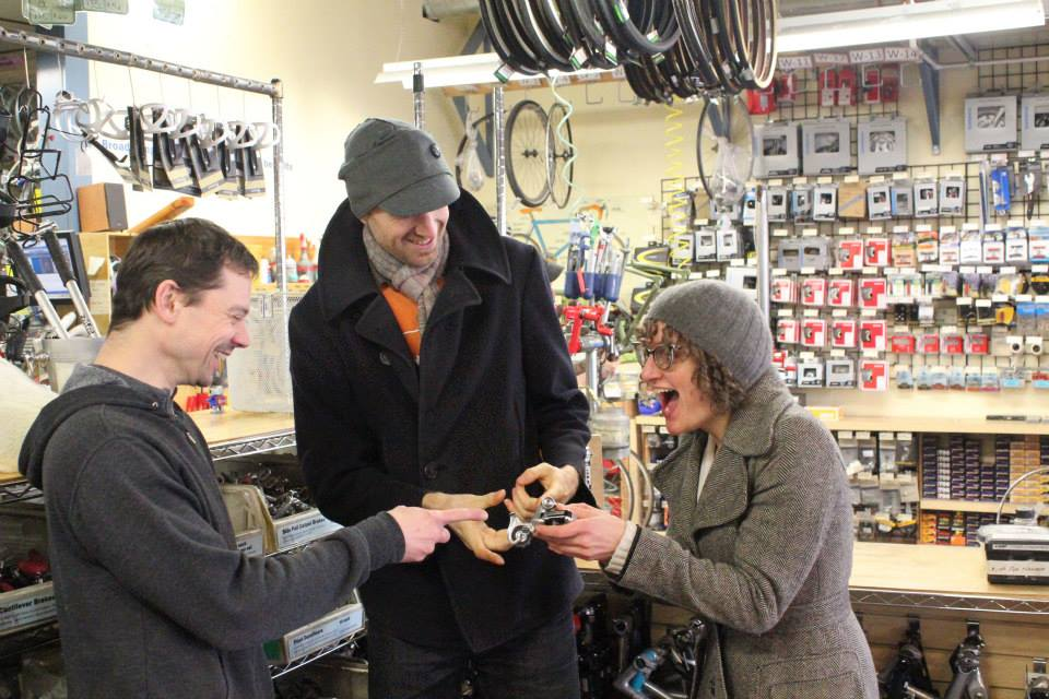 Rich w/ Leah & Jim of Gladys Bikes