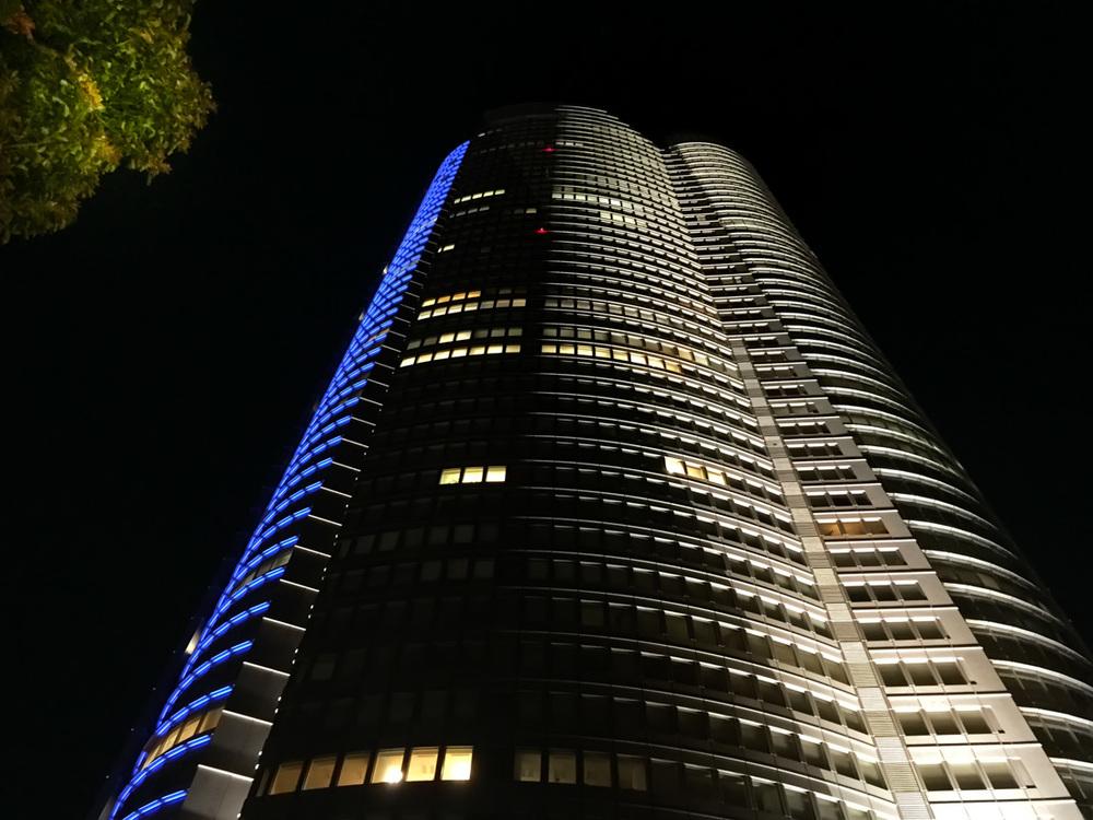 Tokyo High-Rise at Night