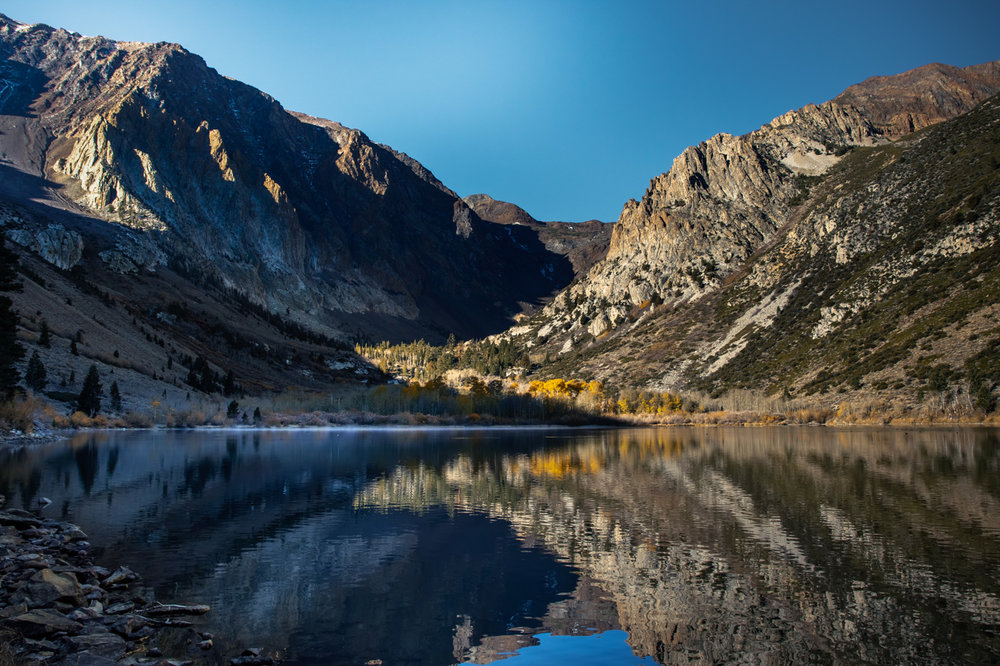 Eastern Sierra in Autumn at Parker Lake