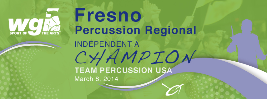Team Percussion placed first in the WGI Western Regional Championships in Fresno on March 8, 2014 in the Independent A Class.