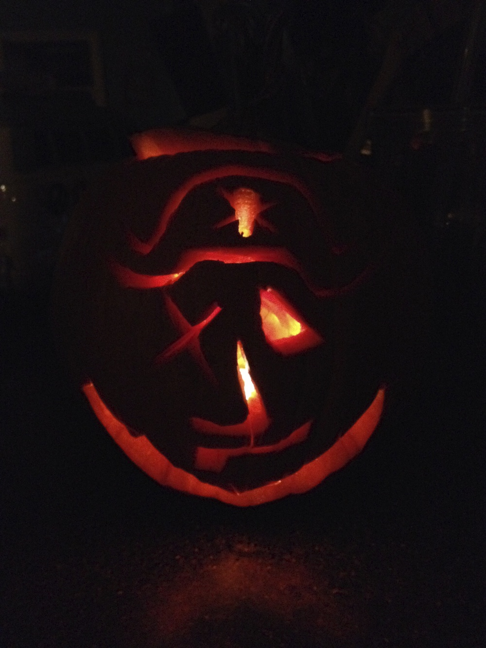 Dad's Pirate Pumpkin