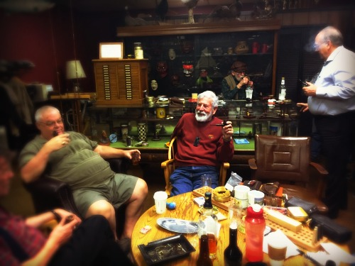 My pop at our Pipe club - e. crosby tobacconist, Modesto CA