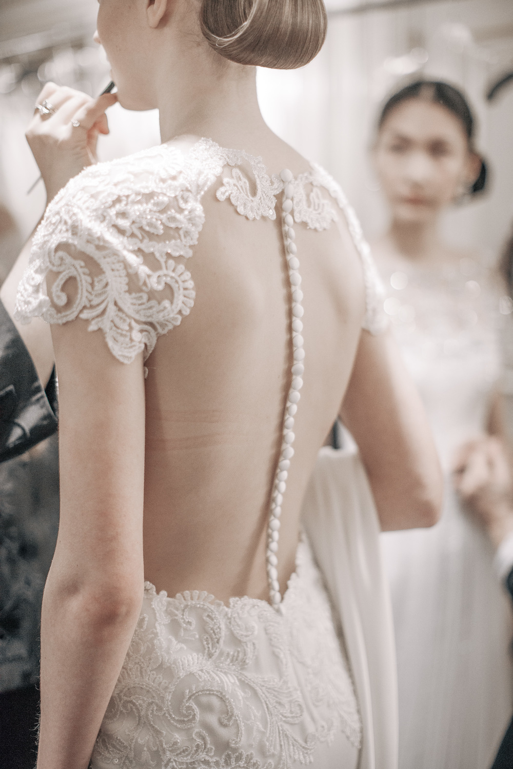 Backstage / Marchesa Spring 2016 Bridal