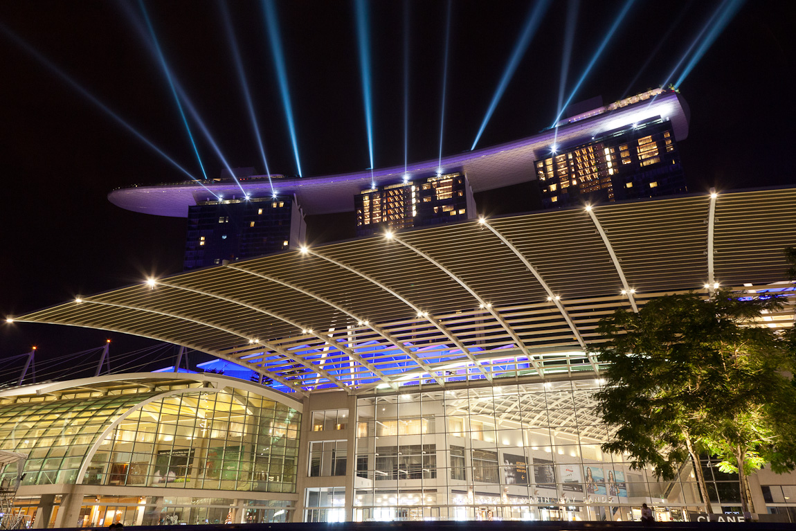 Laser Light Series at Marina Bay Sands Singapore