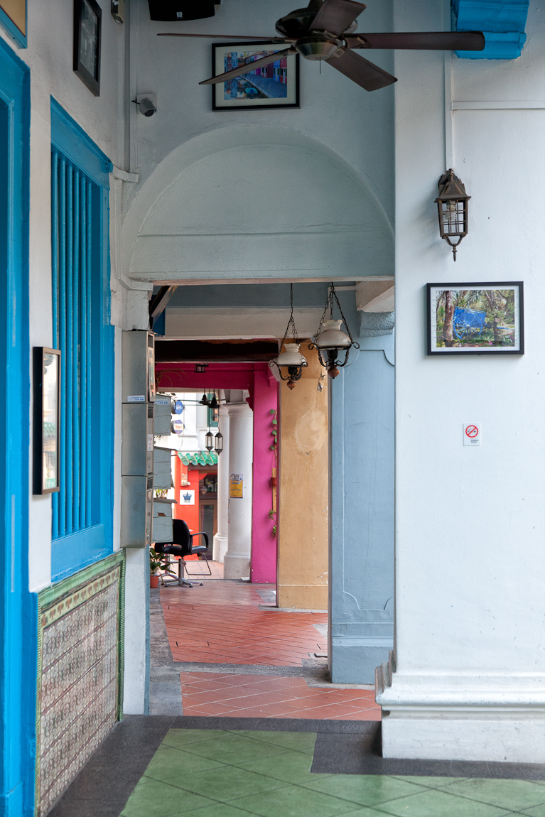 Singapore China Town's Colorful Walkways