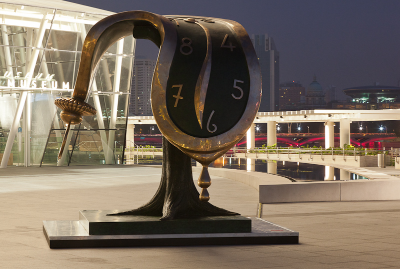 "Dali's ""dance of time II"" at Marina Bay ArtScience Museum"
