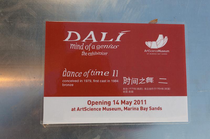 Dali Bronze after Sunrise at Marina Bay ArtScience Museum