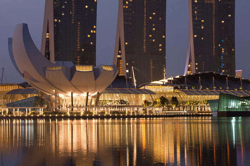 Around Marina Bay Before Dawn