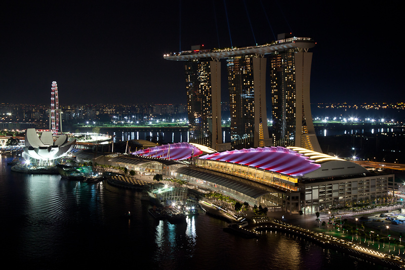 Marina Bay Sands Casino in F1 Colors