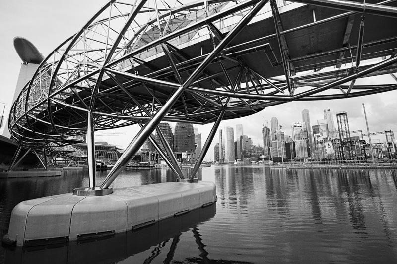The Helix Bridge in B&W