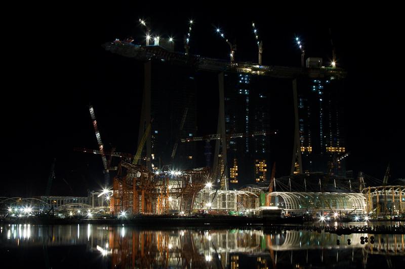 Marina Bay Sands Construction: Pre-Dawn