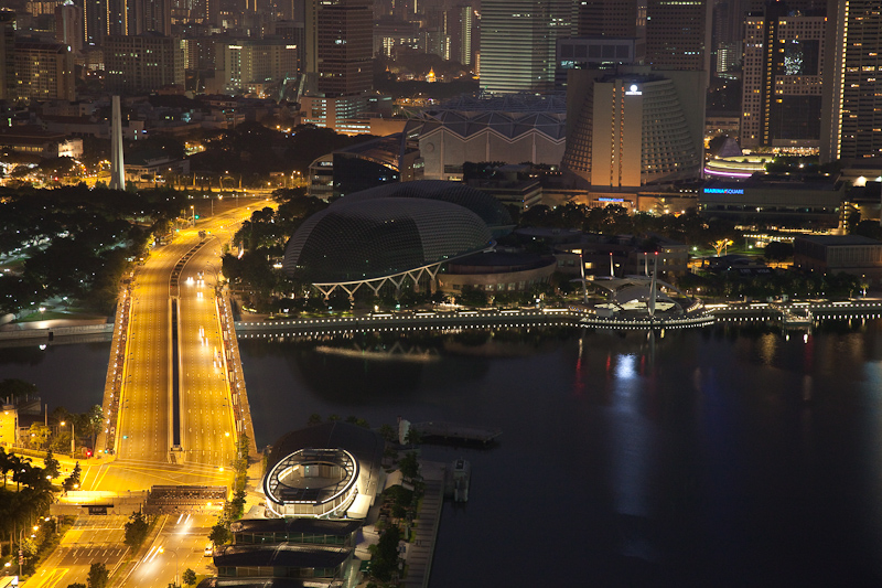 Singapore Early Morning from 450 Feet Up