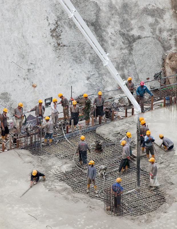 Pouring Concrete in Singapore