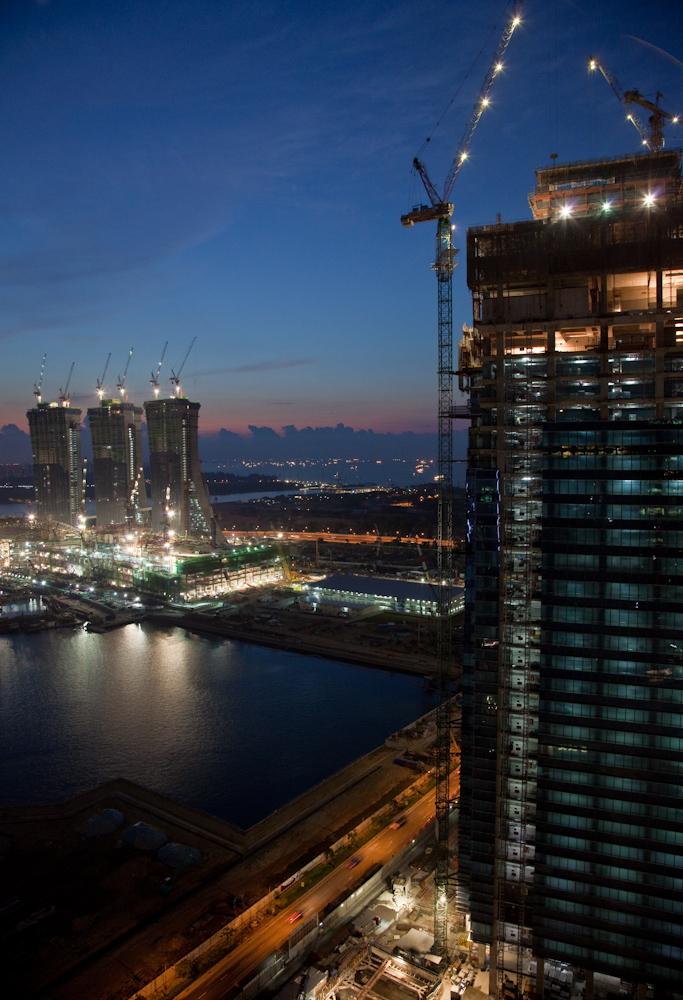 Pre-Dawn Singapore Images