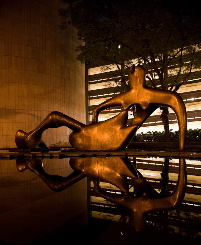 Reclining Figure by Henry Moore, in Singapore