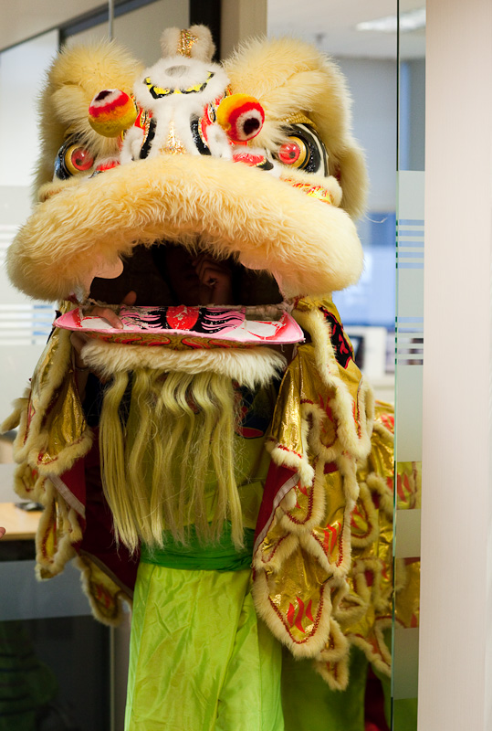 CNY Lion Dance at Work