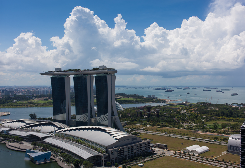 Clouds over Marina Bay Sands (HDR)