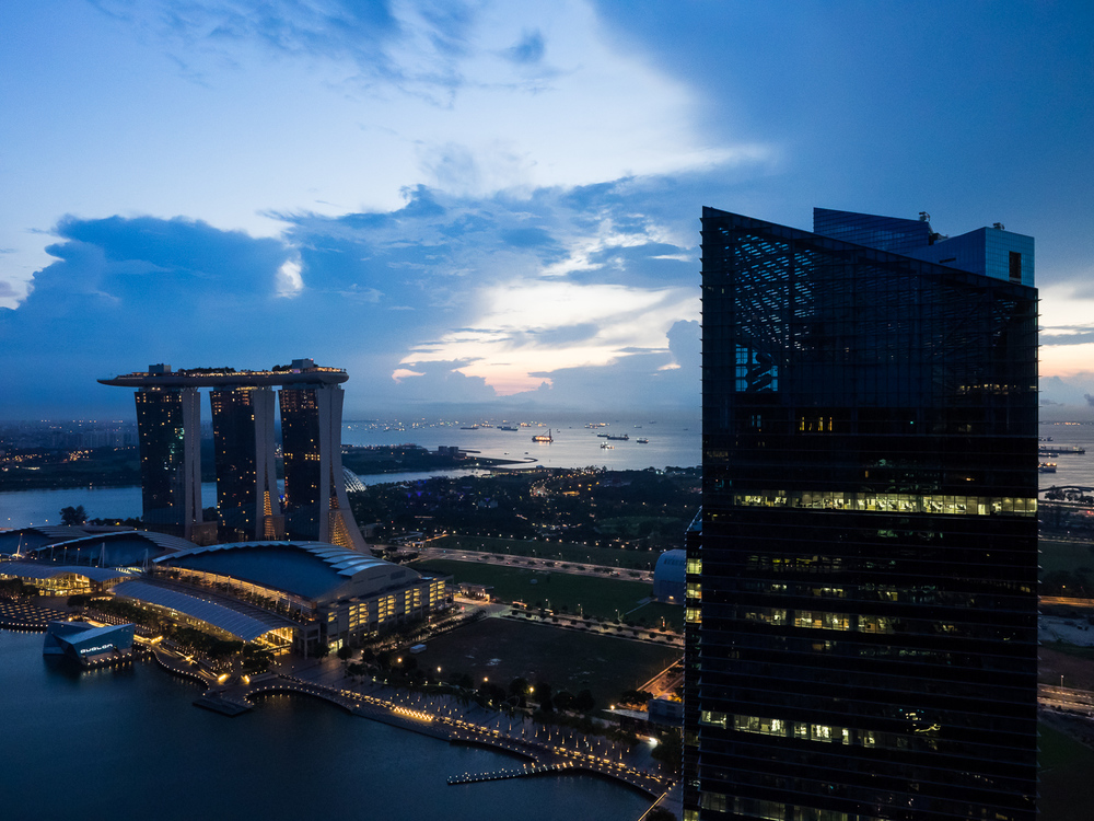 The early morning sky on our day of moving out from the 49th floor of The Sail @Marina Bay.