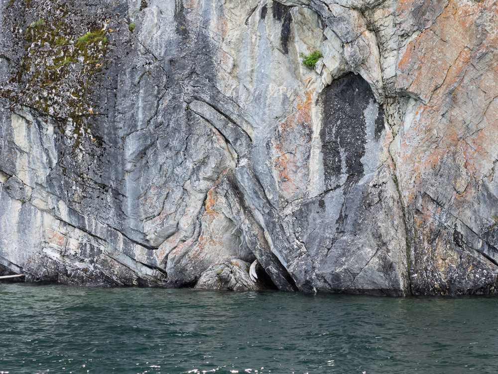 Rock fold along Upper Waterton Lake shore (June 2015)