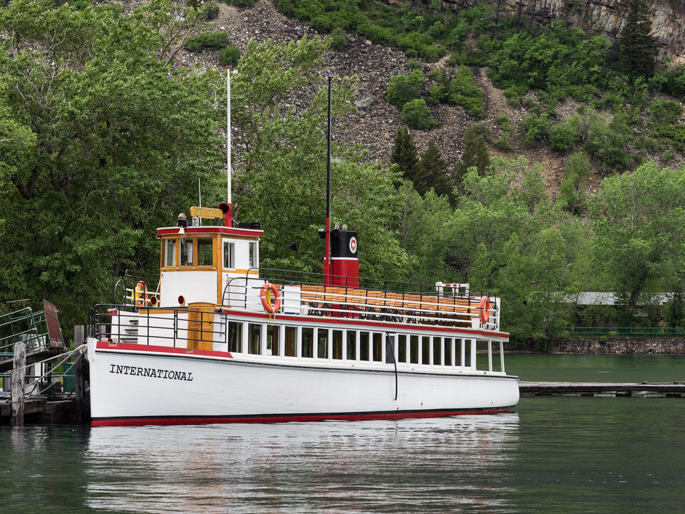 M/V International at Waterton Village dock (June 2015)