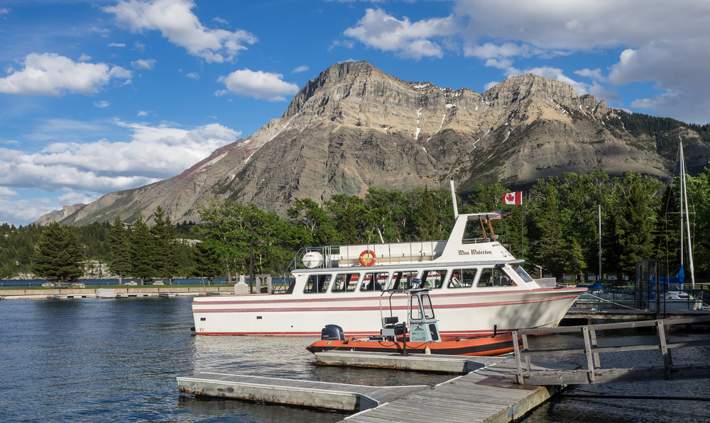 View to the east from Waterton Village docks (June 2015)