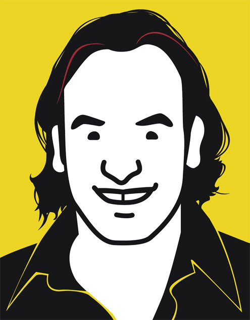 GQ magazine commissioned a caricature of Mark Shuttleworth in the style of British artist Julian Opie. It was a runner up in the 2005 Mondi Awards.