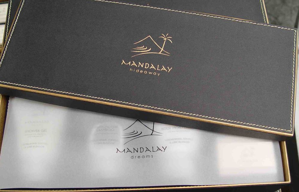 Complimentary Designer Mandalay Dreams Toiletries