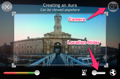 "Choose between ""location-based"" or ""regular"" Aura"