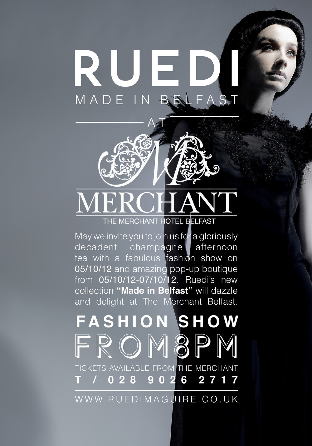 "RUEDI will be showcasing a selection of work at The Merchant Hotel Belfast entitled ""Made in Belfast""   Click through for further information and ticket sales."