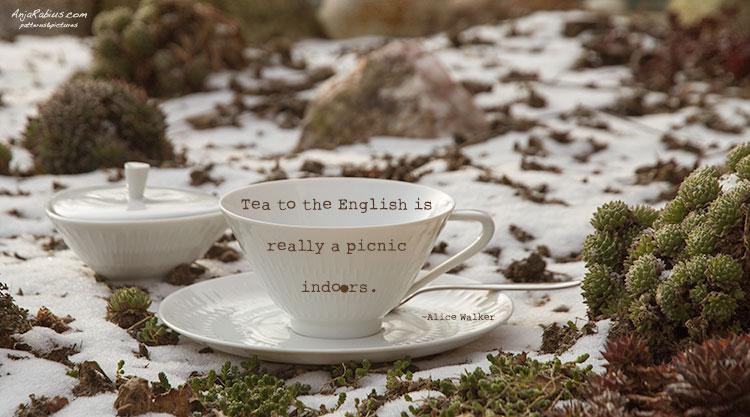 Tea Time - texture: kk_unleashed by Kim Klassenfont: rough typewriter