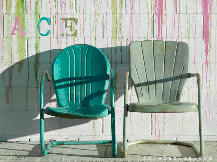 "Ace Chairs 'Spring'- original image, brush overlayand texture 'kk_havana""by Kim Klassen, font: VT Portable Remington"