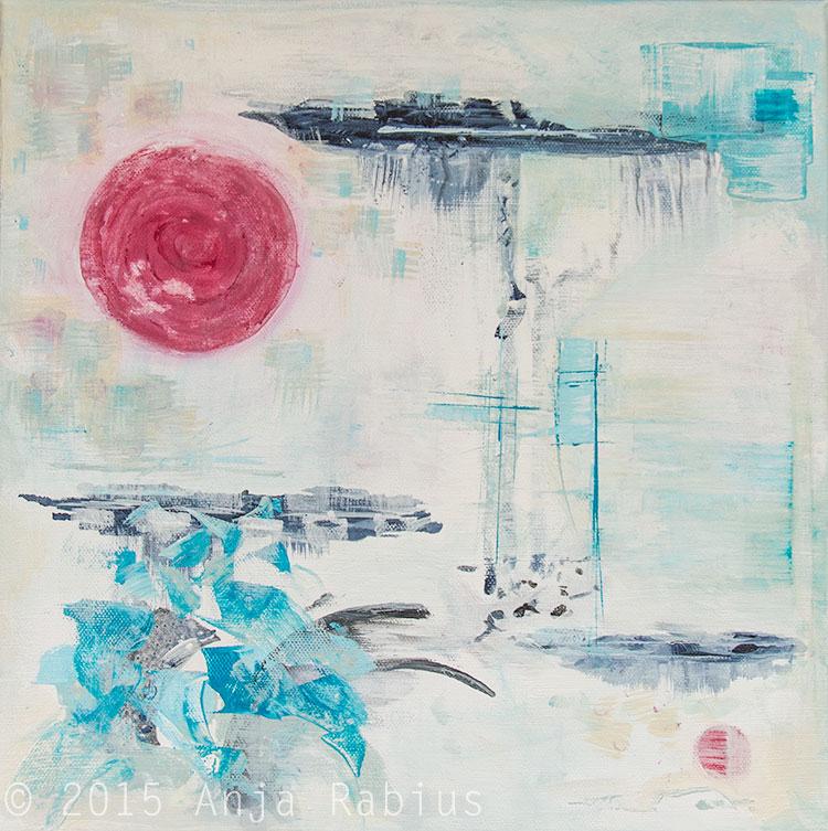 calm, 2015, acrylic on canvas, 30 x 30 cm