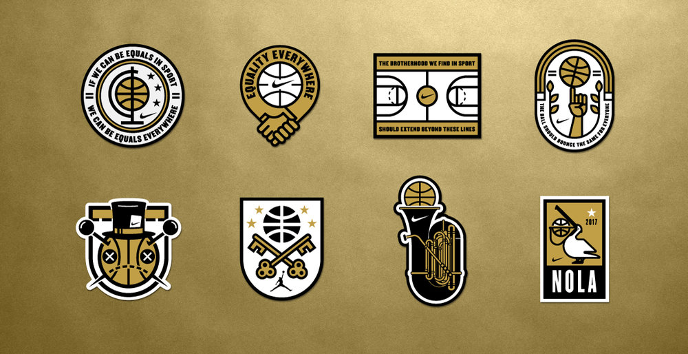 nike basketball patches