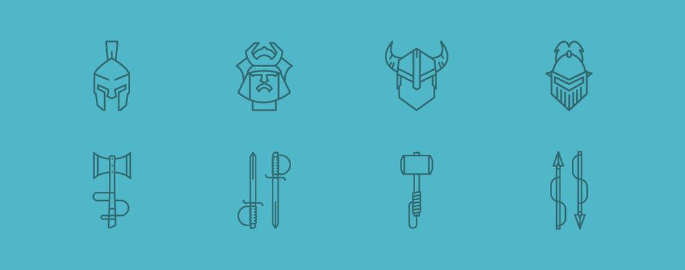 warrior icons