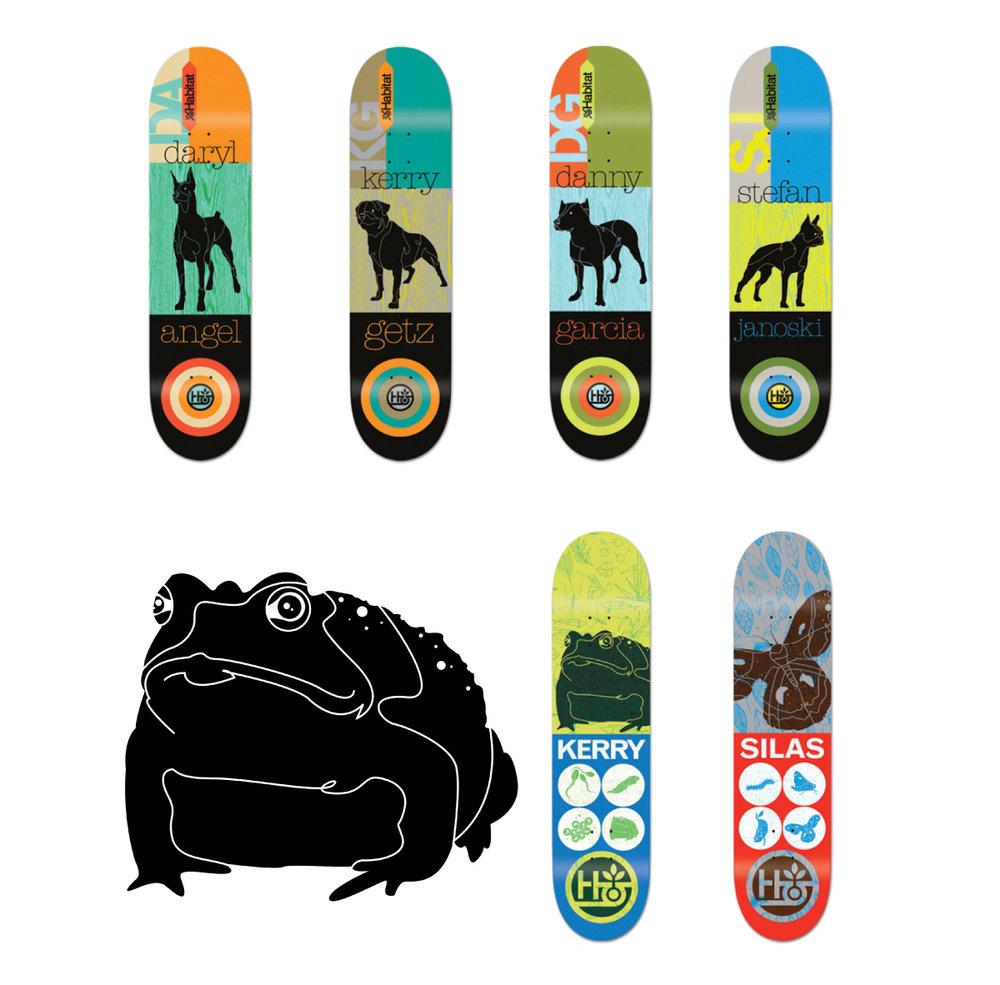 habitat skateboards decks