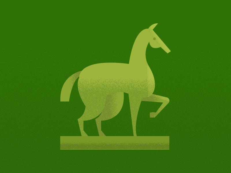 mid century horse statue