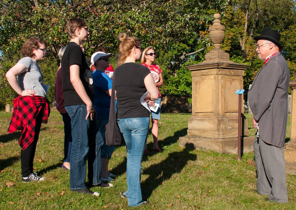 Roughly 150 people attended the Ghost Walk this year, raising over $300 for the preservation of the cemetery.