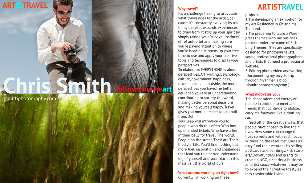 Chris Smith Artistravel interview