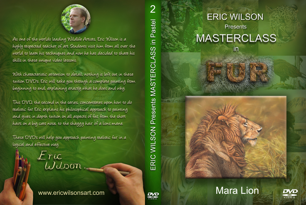 Instructional DVD on painting fur in pastel. How to paint realistic fur in Pastel.
