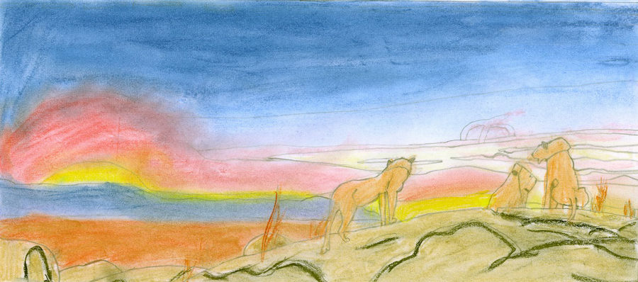 Serengeti Sunset. Joanna Ramsey, aged 12.