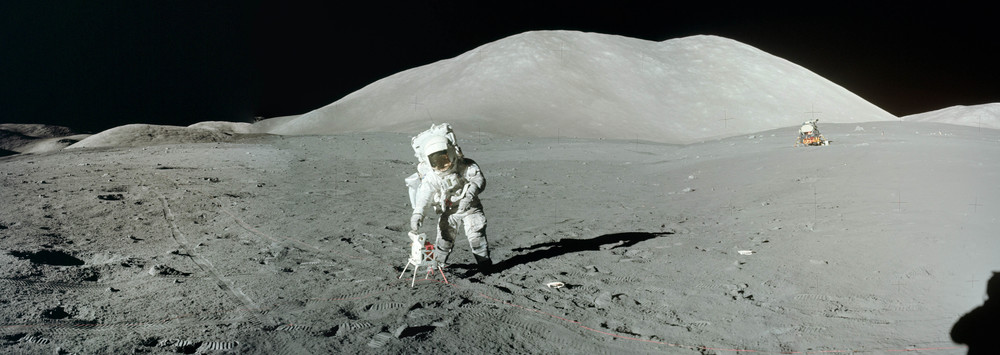 Geologist Jack Schmitt at Taurus Littrow. Apollo 17. The last men to walk on the moon.