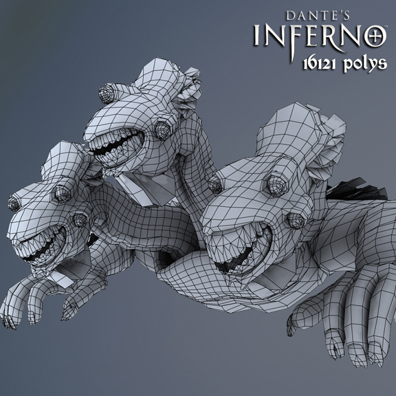 Cerberus In-game Wireframe