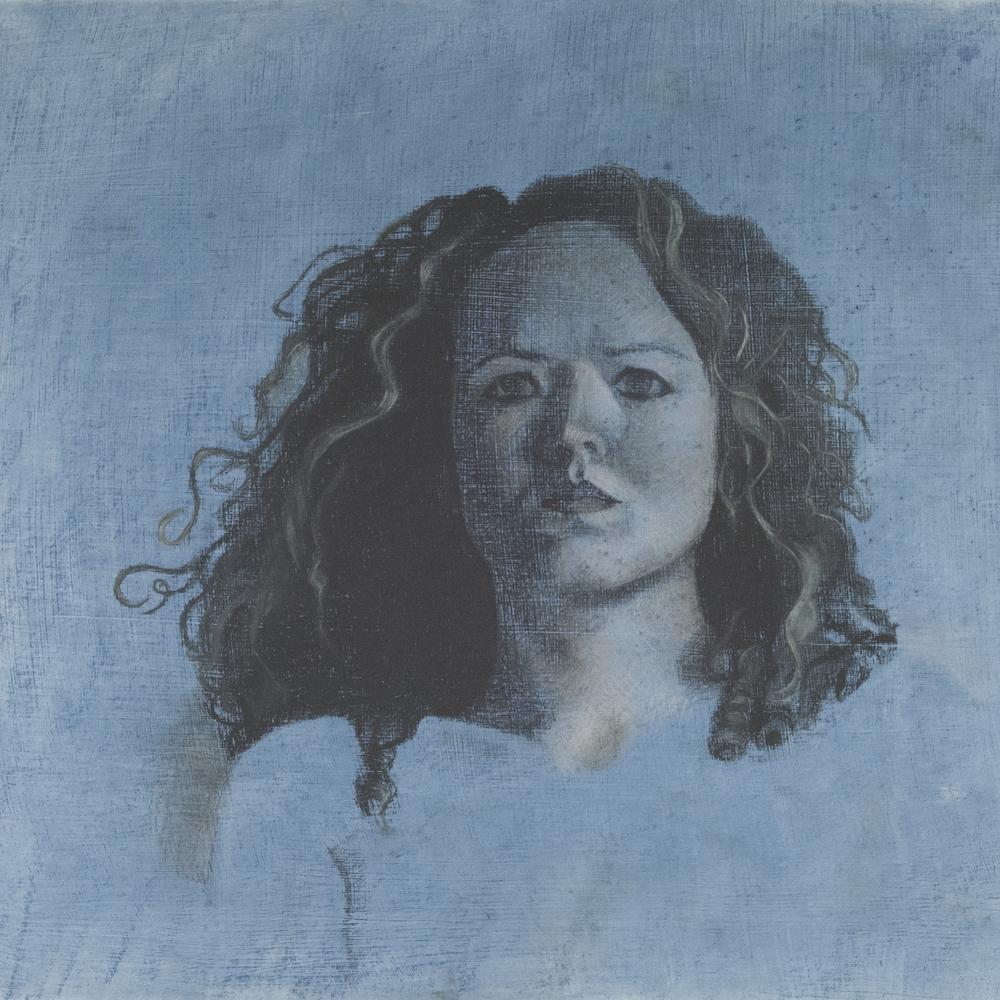 Me, Blue. 18x18