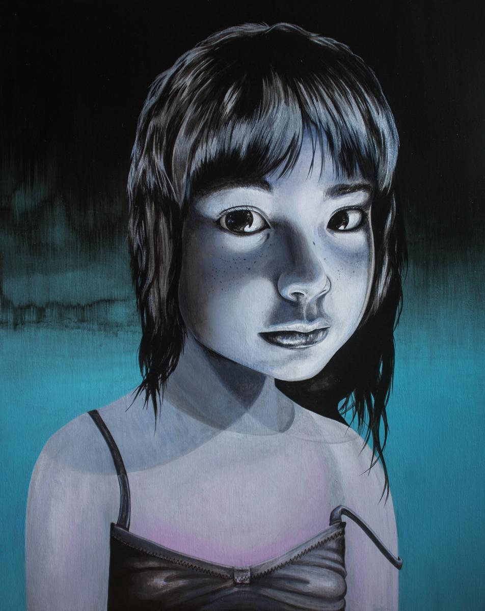 """Sadie   Acrylic on Wood Panel   20"""" x 16"""""""