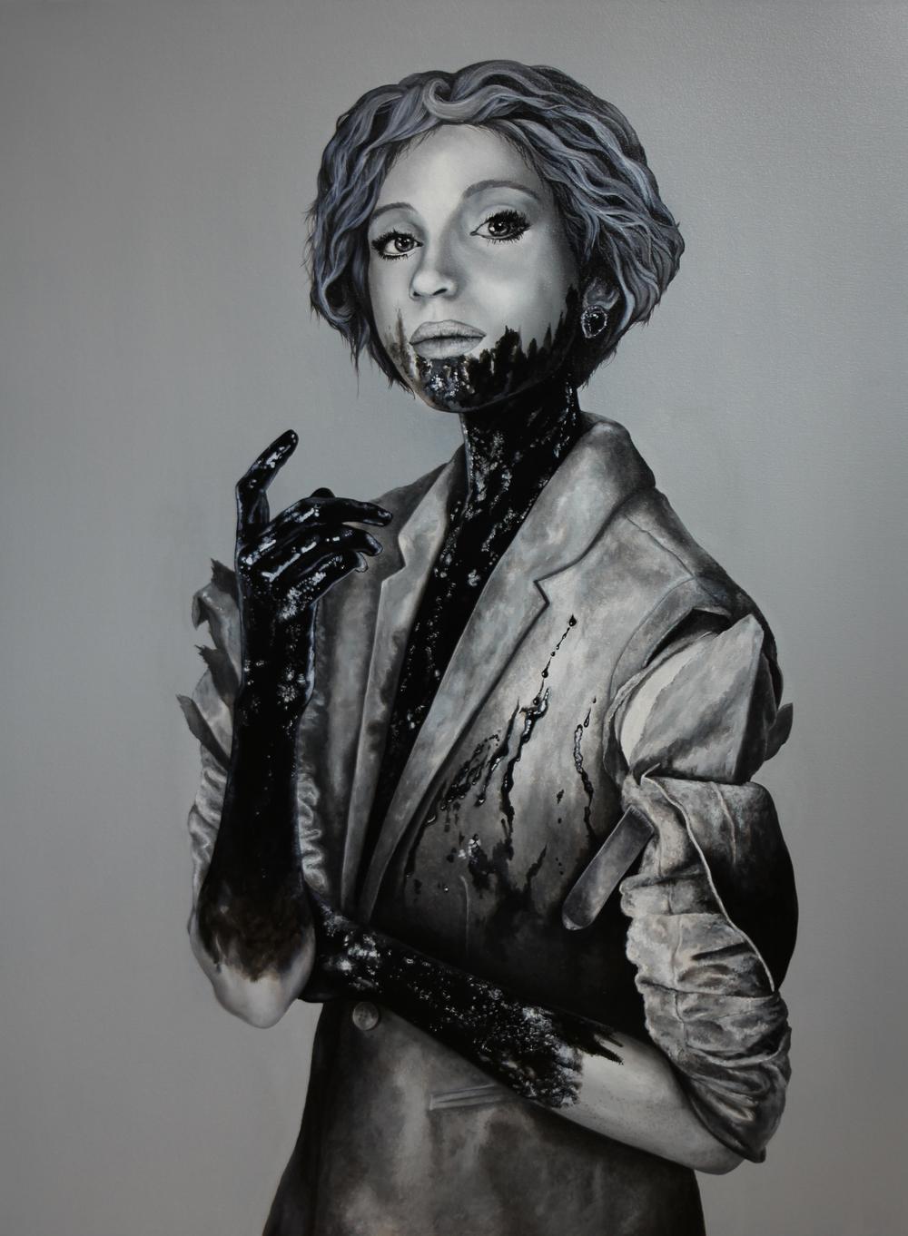 "Untitled — SISTERS 02 (Ellen)   Acrylic on Canvas   40"" x 30"""