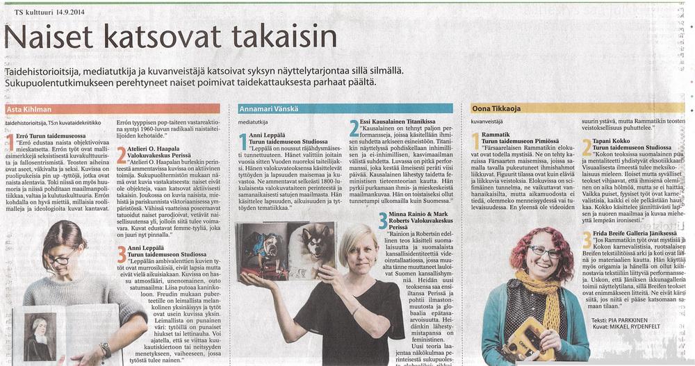 Turku Sanomat, 14.9.2014