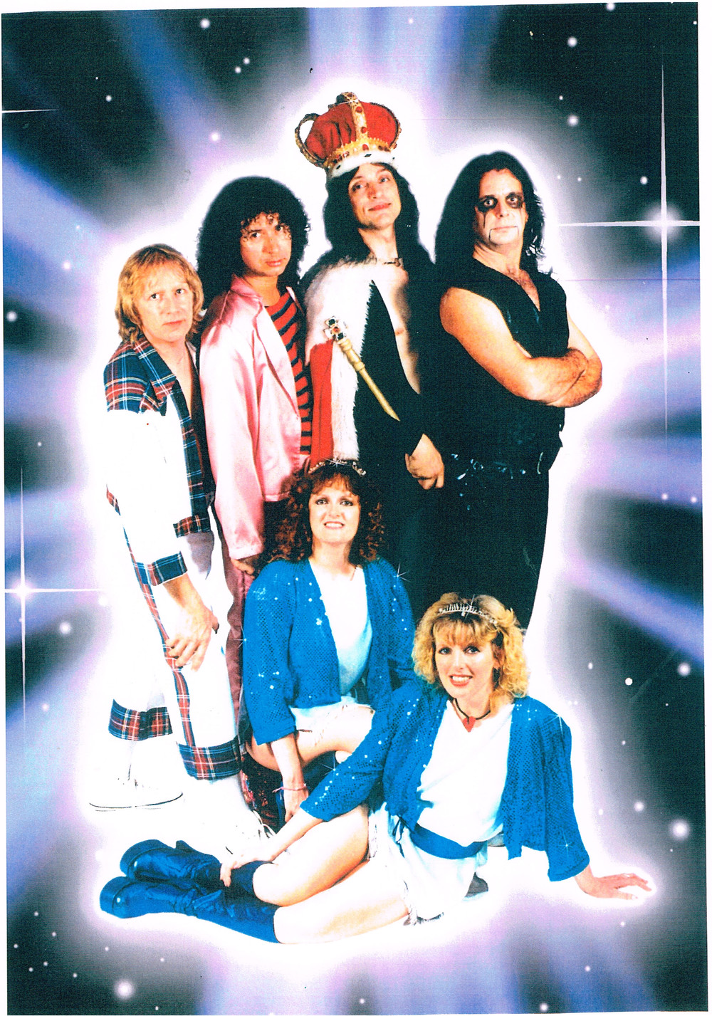This is Ballroom Glitz playing for the 70s fancy dress - drummer is the former Bay City Rollers drummer!!