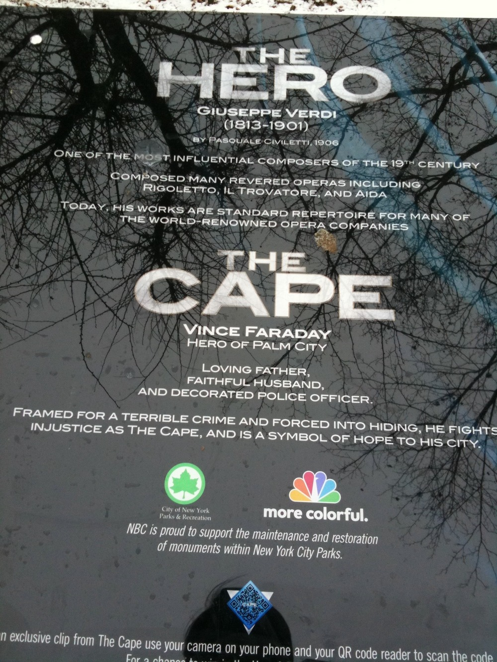 NBC Puts Cape on NYC Statue