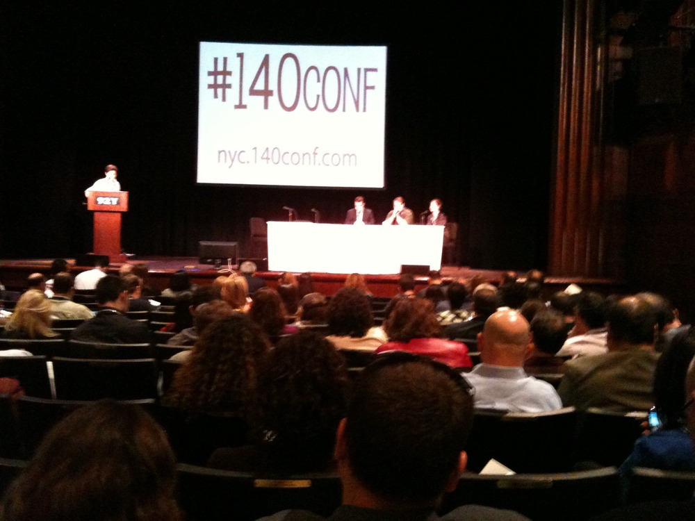 On Stage at #140conf in NYC