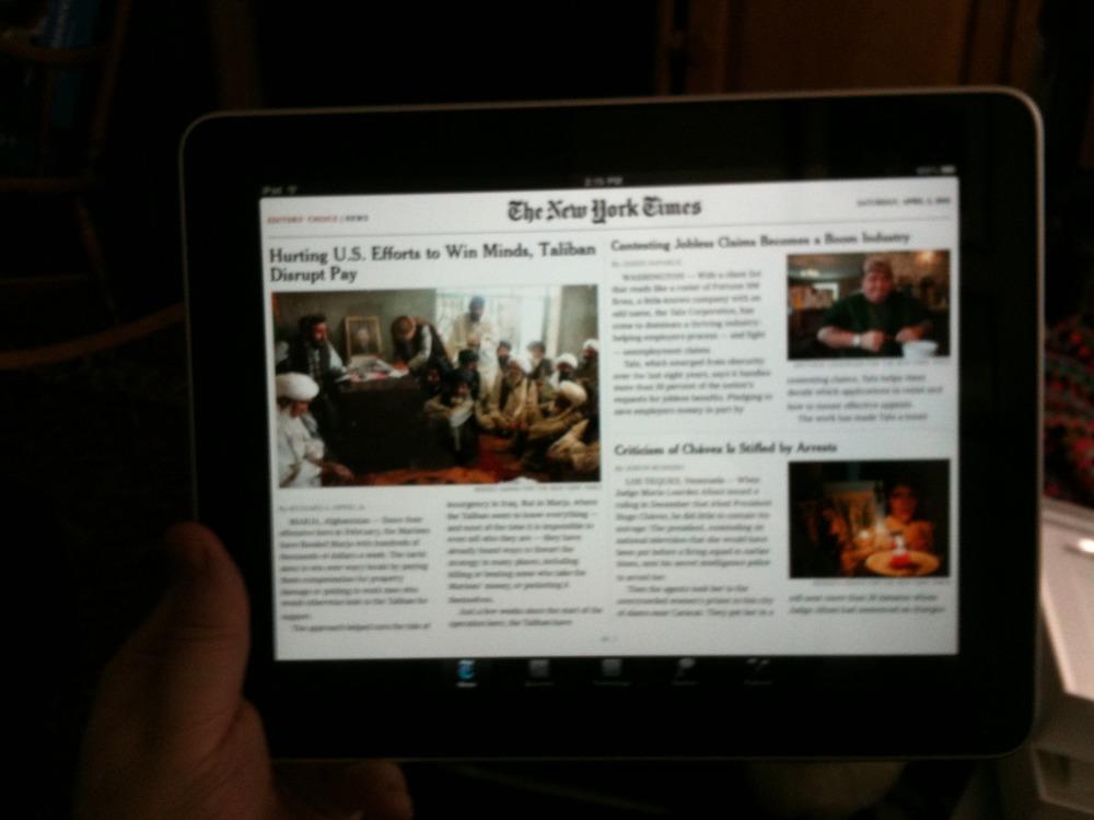 iPad Saturday Starts.